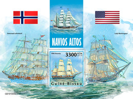 Guinea Bissau. 2019 Tall Ships. (1005b) OFFICIAL ISSUE - Bateaux