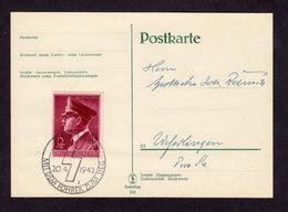 DR Postkarte BERLIN - Weferlingen 20.4.42 Mi. 813 SoSt. Mit Dem Führer Zum Sieg - Siehe Scan - Deutschland