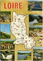 LOIRE  Roanne Montbrison Saint-Etienne  Multivue - Carte Geografiche
