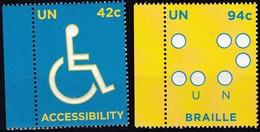 UNO-New York, 2008, 1097/98, MNH **, Menschen Mit Behinderungen. - New York -  VN Hauptquartier