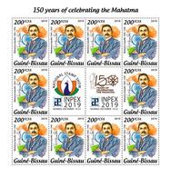 Guinea Bissau. 2019 150th Anniversary Of Mahatma Gandhi. (1010c) OFFICIAL ISSUE - Mahatma Gandhi