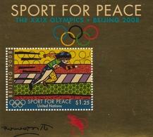 UNO-New York, 2008, 1101 Block 28, MNH **, Sport Für Frieden: Olympische Sommerspiele, Peking. - New York -  VN Hauptquartier