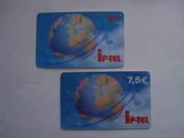 2 Cartes Prépayées Française  (utilisé). - France