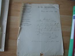 Facture 1887 Ornans Horlogerie Bijouterie Drouhet - 1800 – 1899