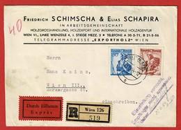 Brief Reco  & Eilboten Stempel: Empfänger Nicht Anwesend  2 Scan - 1945-.... 2nd Republic