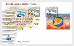 Spanish Andorra 2019 - Special Issue Spain/Andorra - Council Of Europe FDC - Nuevos