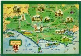 DORSET  Yeovil  Dorchester  Blandform  Poole - Carte Geografiche