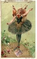 Chromo Liebig . Fée Danseuse En équilibre Sur Un Pot . Ailes De Papillon . Danse . - Liebig