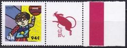 UNO-New York, 2008, 1102, MNH **, Grußmarke: Sport Für Frieden - Olympische Sommerspiele, Peking. - New York -  VN Hauptquartier