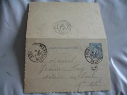 C Boite Rurale Foug Obliteration Sur Entier Postmal Sage - Storia Postale