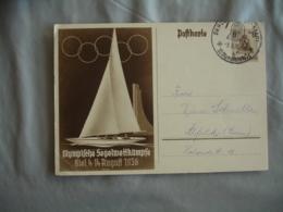 Jeux Olympiques 1936 Berlin Olympics Games  Entier Postal Berlin Syadt - Zomer 1936: Berlijn