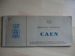 Caen Carnet 10 Cartes  10 Detachables 10 Vue Souvenir Caen Edi Belfrance - Caen