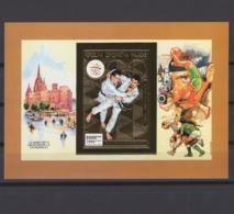 MADAGASCAR 1992. Mi # Bl 192 B, CV €20, Imperf, Golden Foil, Olympics - Summer 1992: Barcelona