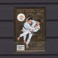 MADAGASCAR 1992. Mi # 1381 B, CV €20, Imperf, Golden Foil, Olympics - Summer 1992: Barcelona