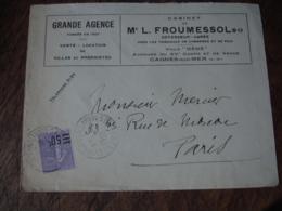 Cagnes Sur Mer Grande Agence Froumessol Enveloppe Commerciale - 1900 – 1949