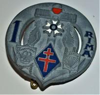 Rare Insigne 1° R.I.M.A Fraisse Paris - 1939-45