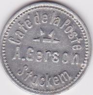 Token / Jeton - Café De La Poste - A.GERSON - STOCKEM ( Province De Luxembourg ) - Monedas / De Necesidad
