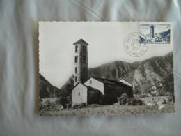 Andorre Andorra 1957 Eglise Romane C M Carte Maximum - Maximum Cards
