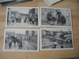 Guerre 14.18 Lot 4 Cpa Edi Pays France Armee Coloniale Pont Bateau Villers Cotterets Soupe - Guerre 1914-18