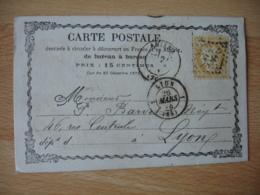 Carte Postale Precurseur Bureau A Bureau Amiens  Cachet Type 18 Gros Chiffre 85 Timbre Ceres 15 C - 1849-1876: Période Classique