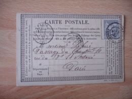 Millesime Juin 1877  Carte Postale Precurseur Peronne Cachet Type 18 Timbre Sage 15 C Gris - 1849-1876: Période Classique