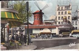 CPSM PARIS LE MOULIN ROUGE - Cafés, Hotels, Restaurants