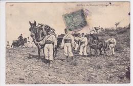 TUNISIE Artillerie De Montagne ,régiment D'Afrique Timbre Tunisie ,écrite à Bizerte - Tunisie