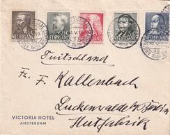 NL 1938, Poststuk Met Complete Serie Naar Zwitserland. Cw 30 Euro. Zie Scans. - Periodo 1891 – 1948 (Wilhelmina)