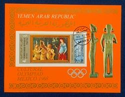 Yemen North, 4 B. 1969, Mi # Block95, Souvenir Sheet, Art, Used. - Yemen