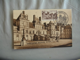 1951  Cm C M Carte Maximum Fontainebleau - Cartes-Maximum
