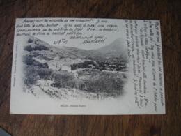 Cpa 04  Mezel Basses Alpes Vue Generale 1903 - Altri Comuni