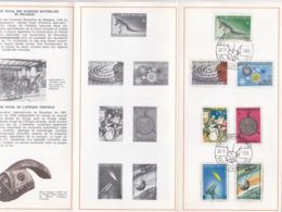 Feuillet Poste FDC 1374 à 1380 Patrimoine Scientifique National Dinosaure Iguanodon ... - FDC