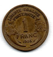 Morlon -  1 Franc 1935  -  état  TB+ - France