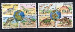 """CAMBOGIA - 1996 - Lotto Di 8 Francobolli (2 Quartine) Tematica """" Animali Preistorici """" - Nuovi ** -  (FDC19400) - Cambogia"""
