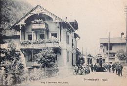 "Switzerland....ENGI......"" Sernftalbahn "" .....Street Scene, Trolley....ca. 1910 - Suiza"