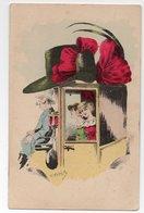 Illustrateur ROBERTY * FEMME ELEGANTE * CHAPEAU NOEUD * CALECHE/FIACRE * COCHER * LAMPE - Autres Illustrateurs