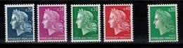 Les Mariannes De Cheffer N** : YV 1536 à 1536B + 1611 - France