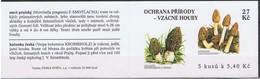 REPUBLIQUE TCHEQUE -Czech Republic - Tcheque   Carnet Champignons : 3 Morchella Pragensis - 2 Verpa Bohemica - Pilze