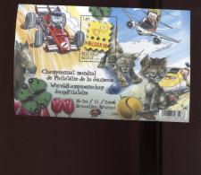 Belgie Blok Feuillet BL134 3560 Belgica Car Plane Cat Dog Ladybug Train Onder Postprijs Sous Faciale !!! - Blocks & Kleinbögen 1962-....