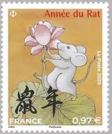 France 2020  Nouvel An Chinois Année Du Rat (Lotus)  MNH / Neuf** - France