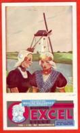 Buvard Biscottes EXCEL Lille Moulin Hollandais 2 Femmes - Blotters