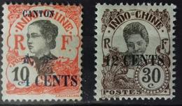 Canton, Timbres Neufs **, Numéro 71 Et 75. - Canton (1901-1922)