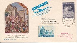 Vatican Special Flight Vatican - Pisa 10-6-1965 The Pope Visit XVII National EUCARISTICO Congress - Vatican