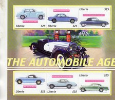 Liberia  - Automobile Age  -  Holden-BMW-Citroen-MGB-Mercedes-Bentley -  6v Sheet Neuf/Mint/MNH - Automobili
