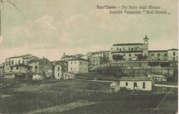 """SANT'OMERO - VIA DUCA DEGLI ABRUZZI - CONVITTO FEMMINILE """"SANT'ANTONIO"""" - VIAGGIATA 1928 - FORMATO PICCOLO - Altre Città"""