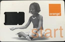 """ANTILLES FRANCAISES  - France Caraïbe Mobiles -  Carte SIM Orange """" Start """"  -  Coque Vide (sans Puce) - Antille (Francesi)"""