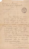 20409# DOCUMENT Daté De CHAUMONT Obl POSTES ET TELEGRAPHES HAUTE MARNE 1919 - Postmark Collection (Covers)