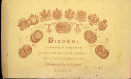 CDV, Inventeur Disdéri, Mai 1876 - Foto's