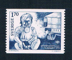 Sweden 1275 MNH Child Gas Mask 1979 CV 1.00 (S1076)+ - Unclassified