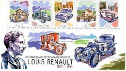 Guiné-Bissau 2014  -  Anniversaire De Louis Renault - Char FT-AX-4CV-40CV-Vivastella -  5v Sheet Neuf/Mint/MNH - Cars